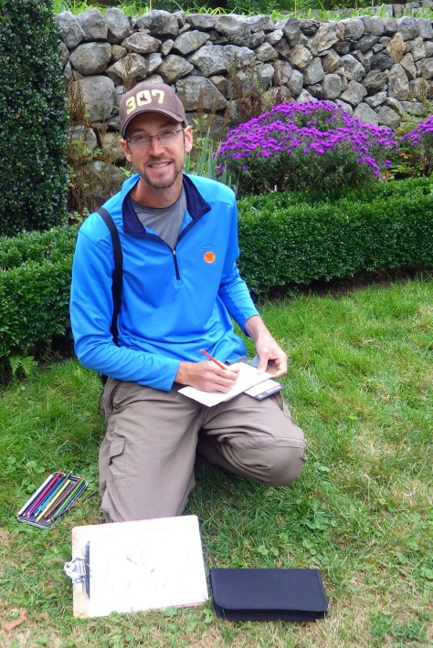 Sketching at Weir Farm