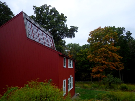A outside view of the sculpture studio