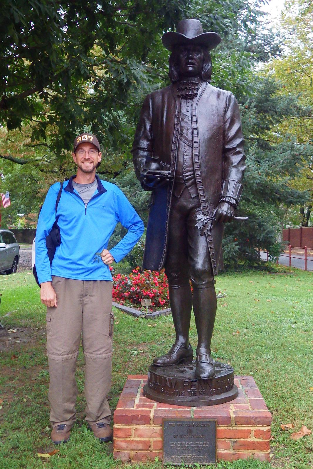 William Penn, founder of Delaware (formerly part of Pennsylvania)