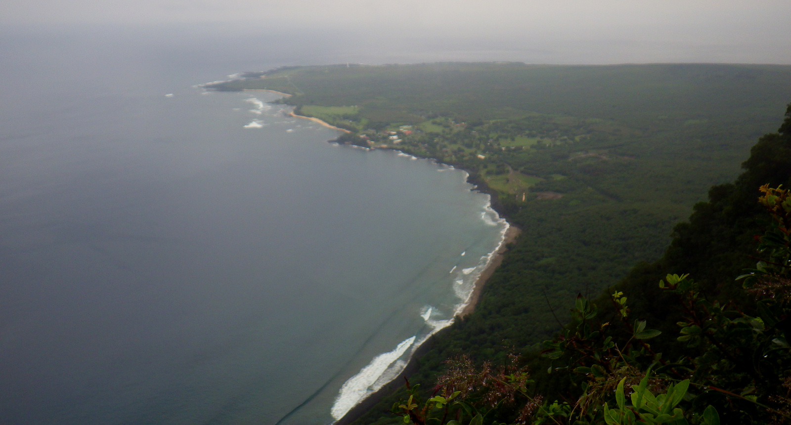 A view of Kalaupapa from near the top of the trail