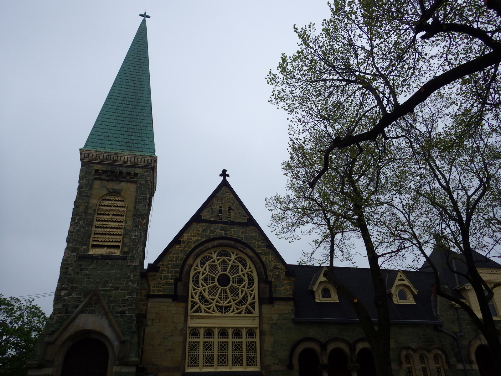 The green rock church