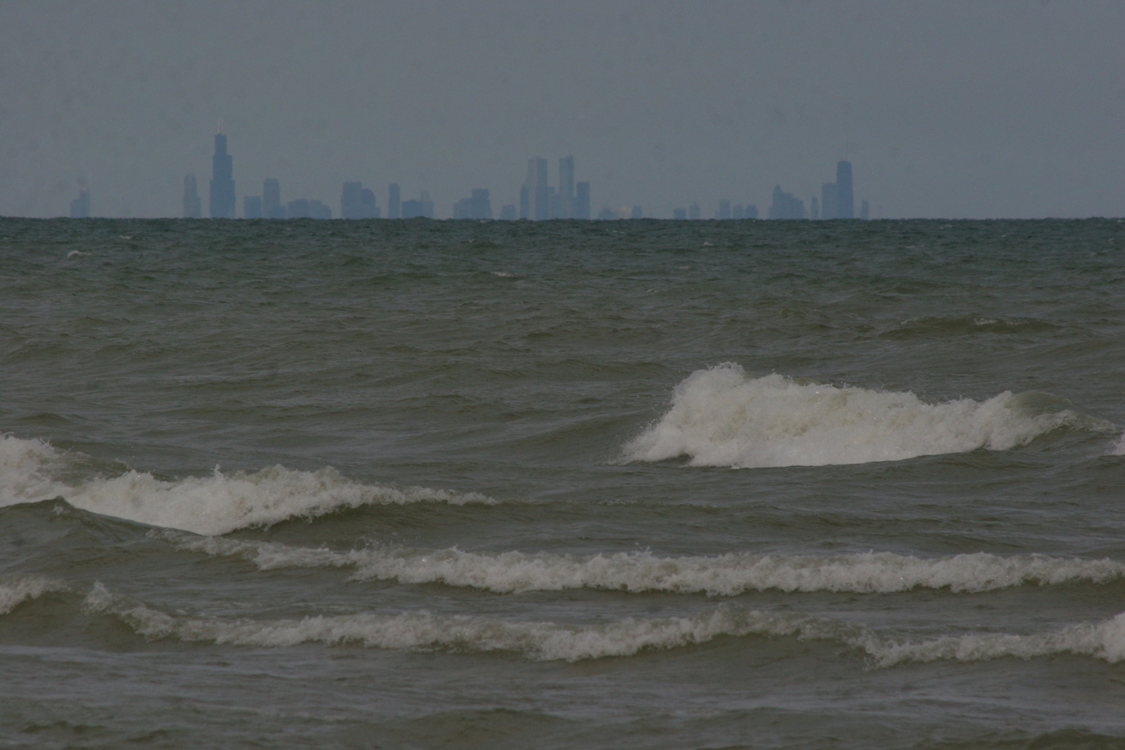 A view of Chicago from the dunes