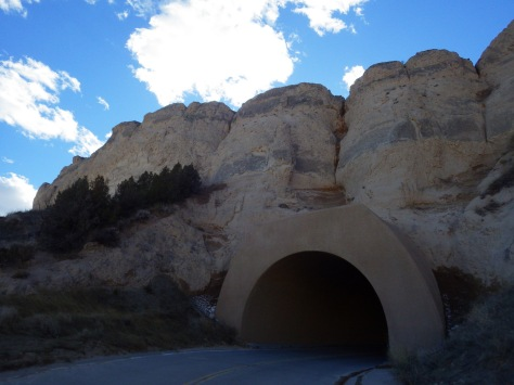 You can also drive to the top (there are three tunnels)