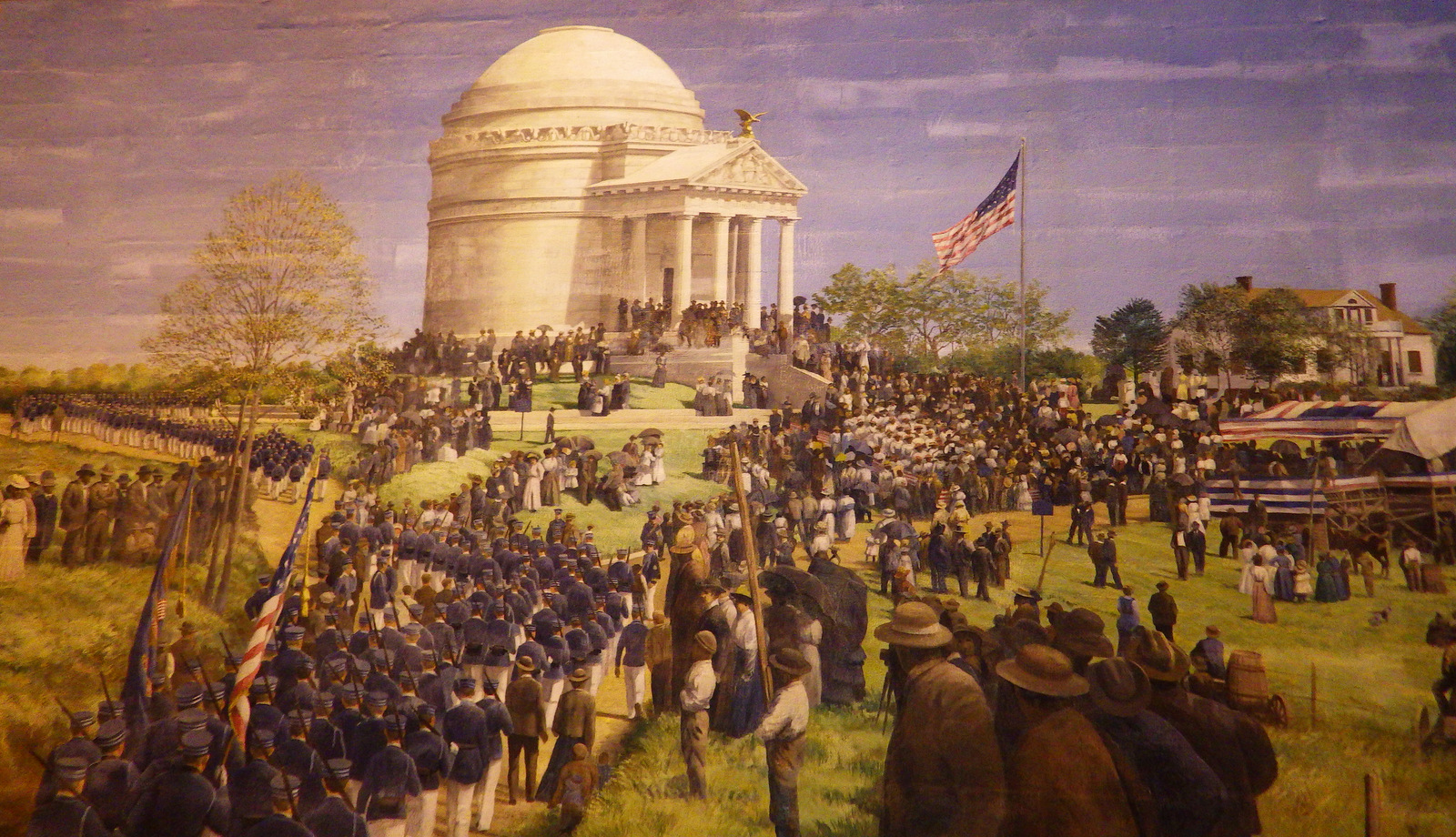 Mural of Illinois Memorial dedication day