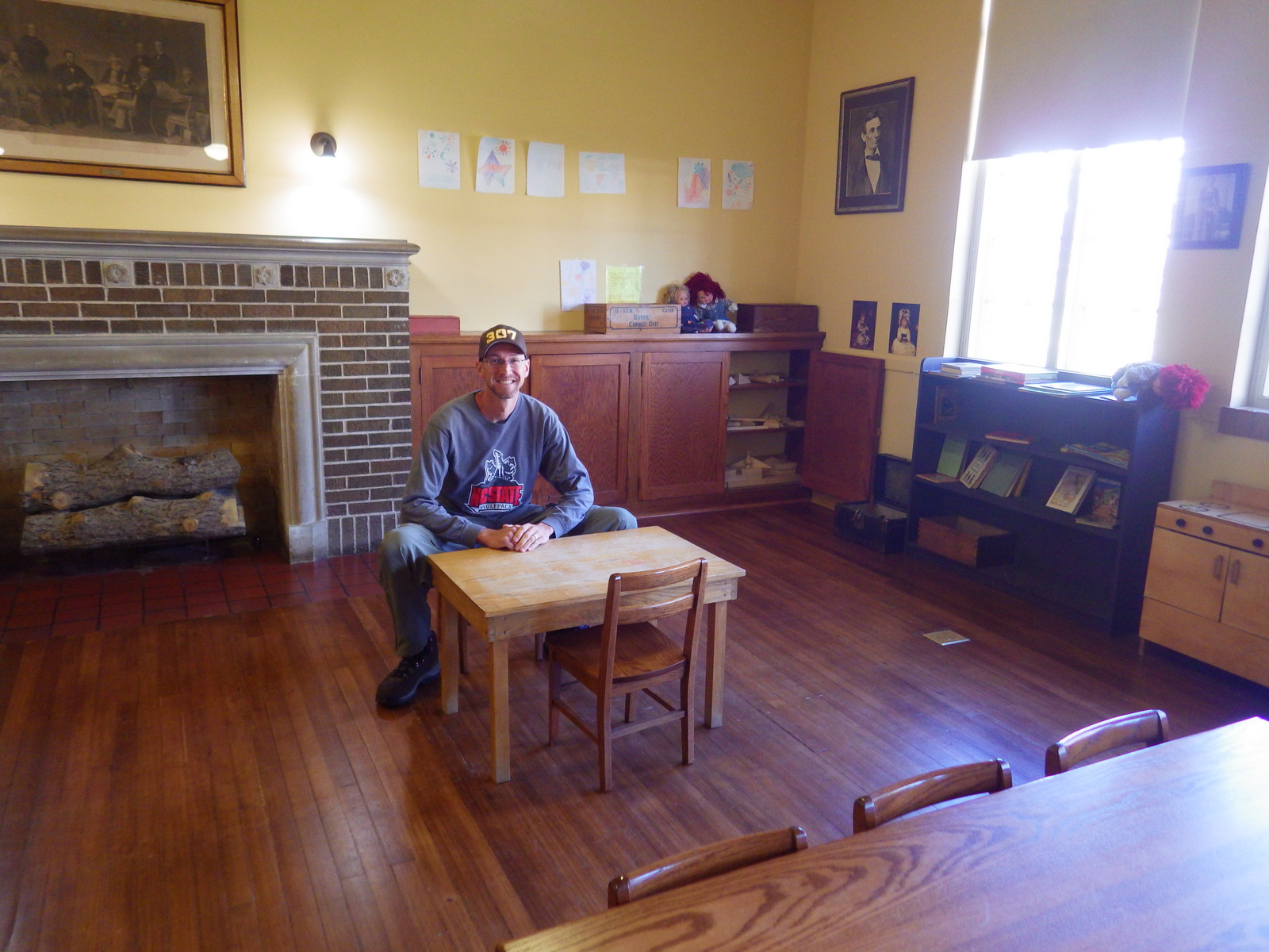 Scott in a kindergarden classroom
