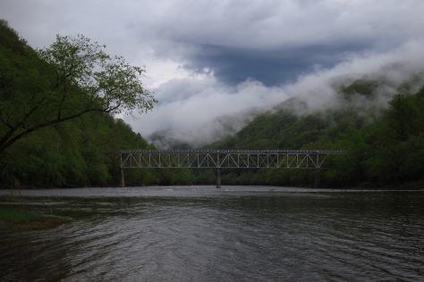 Morning fog along the New River gorge
