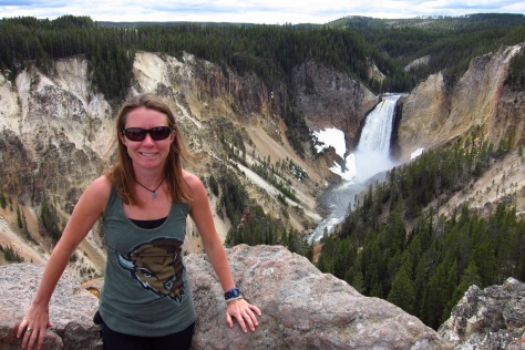Looking back at Lower Yellowstone Falls