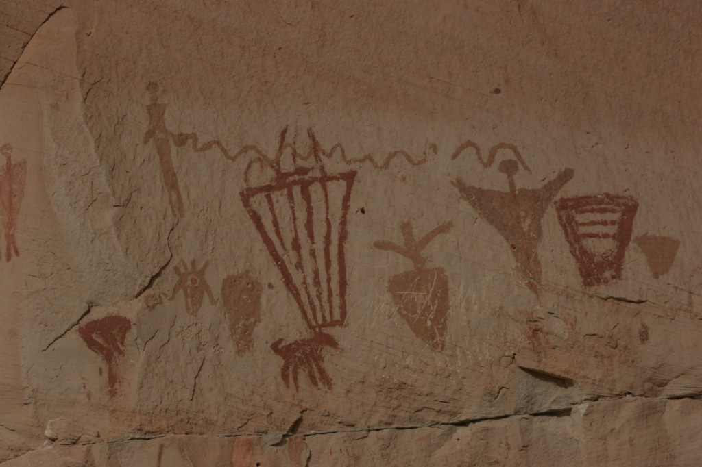 A section of the Great Gallery in Horseshoe Canyon Unit